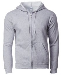 Gildan Asian Fit Adult Full Zip Hooded Sweatshirt